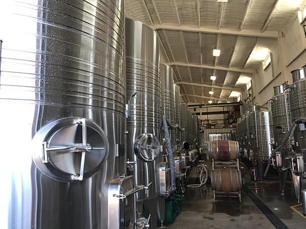 Bulk Wine Tanks at Texas Custom Wine Works